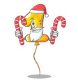 santa with candy number one balloon stickto vector image