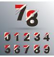 set number 0 1 2 3 4 5 6 7 8 9 glitch design vector image