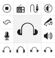 set of 12 editable sound icons includes symbols vector image