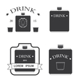 set of logos for drinking vector image