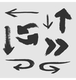 Set of many different arrows on a white background vector image vector image