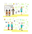 set of science people symbols icons in vector image vector image