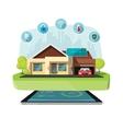 Smart home modern future house vector image