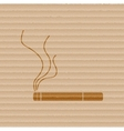 Smoking sign cigarette Flat modern web button and vector image vector image
