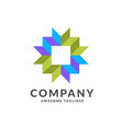 square decorative color corporate identity vector image