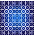 square pattern on blue background vector image