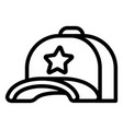 star baseball cap icon outline style vector image
