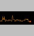 strasbourg light streak skyline vector image vector image