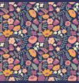 stylized flowers seamless pattern for design and vector image vector image
