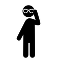 Summertime Pictograms Flat People with Sun Glasses vector image