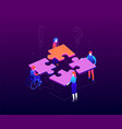 teambuilding concept - modern colorful isometric vector image
