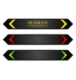 Tech corporate banners with bright arrows vector image vector image