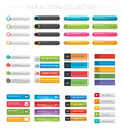 Web Button Collection vector image vector image