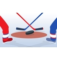Ice Hockey Player with Stick and Puck vector image