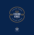 fishing kings logo hooks like a crown vector image
