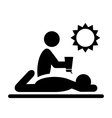 Summertime Pictograms Flat People with Sunscreen vector image