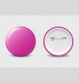 3d realistic pink metal plastic blank vector image