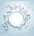 abstract music frame vector image vector image