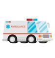 ambulance cartoon flat vector image vector image