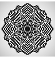 Beautiful ornament on white background vector image