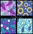 Berries and seed pattern set vector image