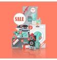 Big Super Web Sale Banner Household Appliances vector image vector image