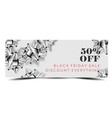 black friday sale discount promo offer banner or vector image vector image