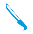 bread knife isolated vector image vector image