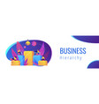 business hierarchy concept banner header vector image