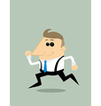 Cartoon businessman running vector image vector image