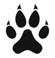Cat paw icon simple style vector image