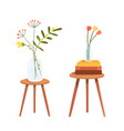 chairs or small tables clip art objects vector image