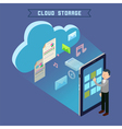 Cloud Storage Isometric Computer Technology vector image vector image