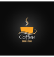 coffee cup label concept menu vector image vector image