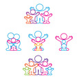 collection icon family vector image vector image