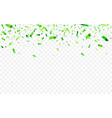 colorful confetti for saint patricks day vector image vector image