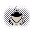 Cup of hot drink comics icon vector image vector image