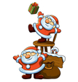 cute little santa vector image vector image