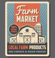 farm market organic local farmer eco products vector image