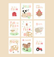 farm posters set vector image