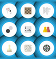 flat icon games set of chess table pawn arrow vector image vector image
