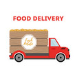 food delivery - shipping of potato truck vector image vector image