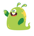 funny and happy cartoon monster vector image vector image