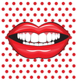 glossy female lips vector image vector image