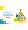 graduation landing page or website template vector image vector image
