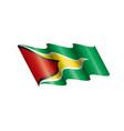 guyana flag on a white vector image vector image
