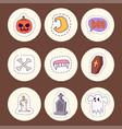halloween carnival symbols patchwork vector image