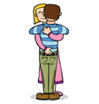Hugging couple vector image vector image