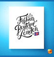 image of fashion boutique london postcard vector image