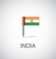 india flag pin vector image vector image
